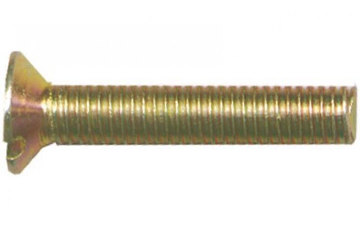DIN 963, acél, 4.8, sárgára horganyzott
