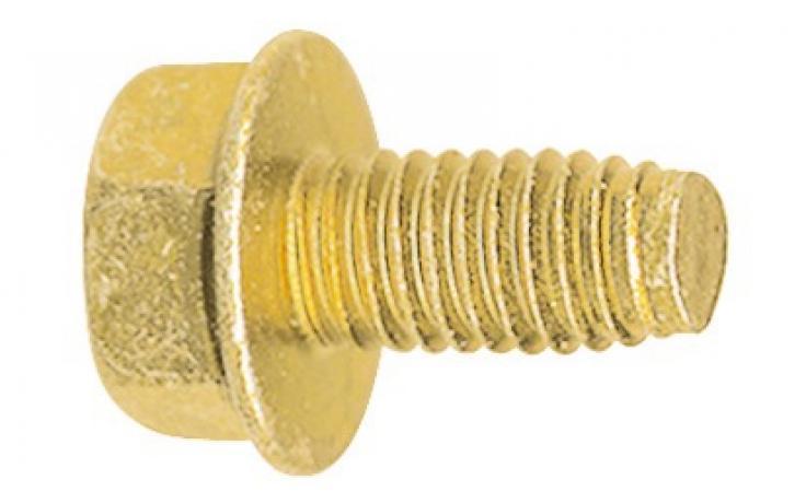 DIN 7500 DE forma, acél, sárgára horganyzott