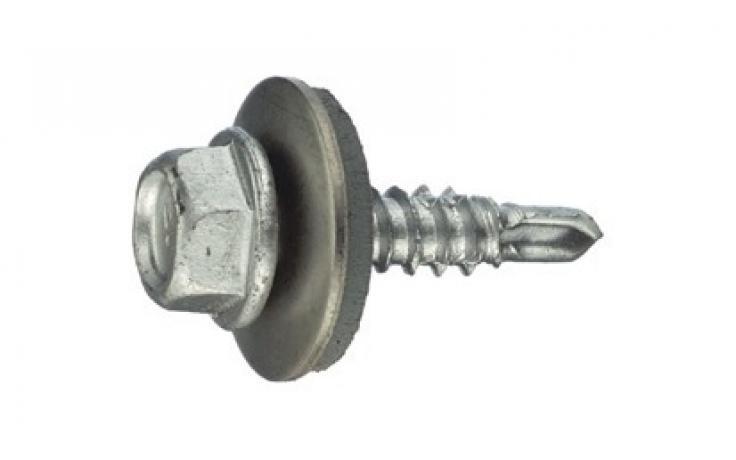 16 mm-es tömítőalátéttel, rövidített fúróheggyel, bimetall (acél/nemesacél)