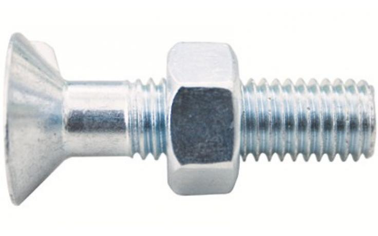 DIN 604, acél, 4.6, horganyzott