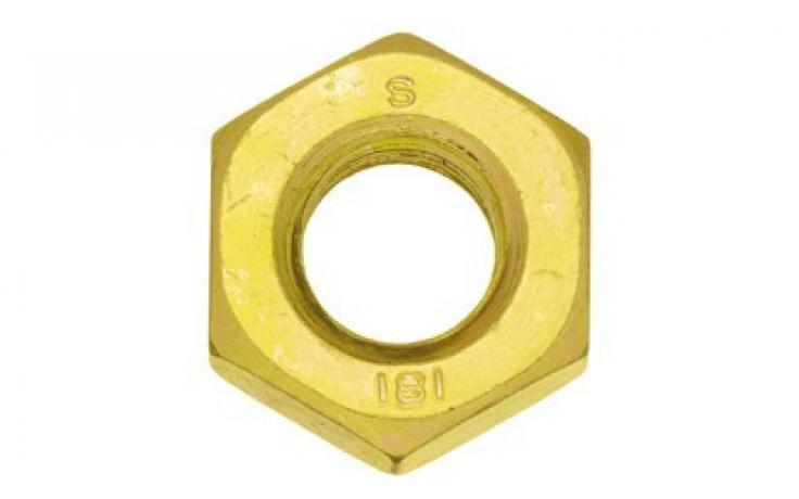 ISO 8673, acél, 8, finommenettel, sárgára horganyzott