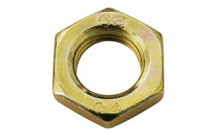 B forma, acél, 4, balos menettel, sárgára horganyzott