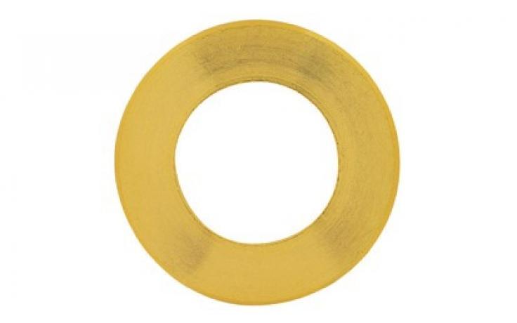 DIN 125, B forma, sárgaréz, nyers