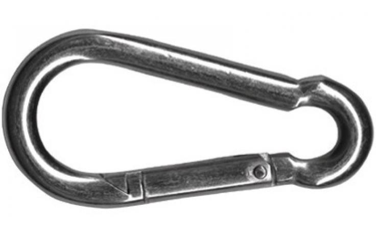 DIN 5299, karabinerhorgok, C forma, nemesacél rozsdamentes A2