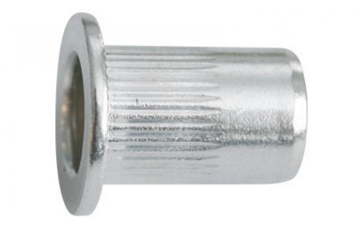 Vakszegecsanyák, alumínium, lapos fejjel