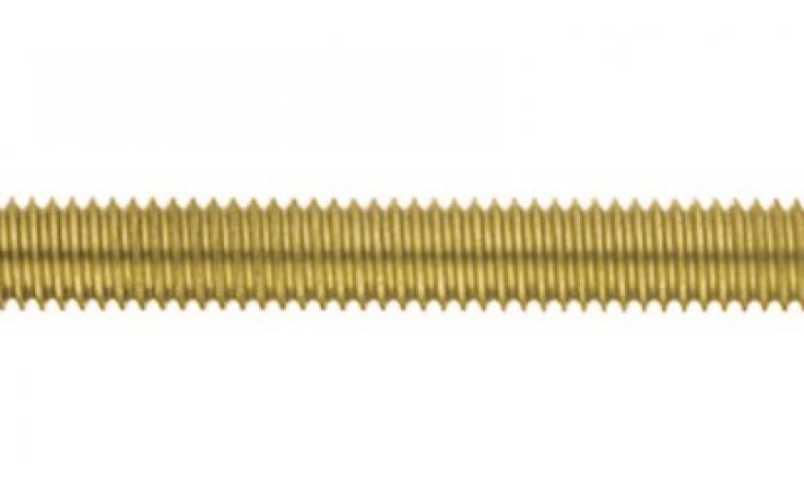 DIN 976, menetes szálak, 1 méter, sárgaréz, nyers