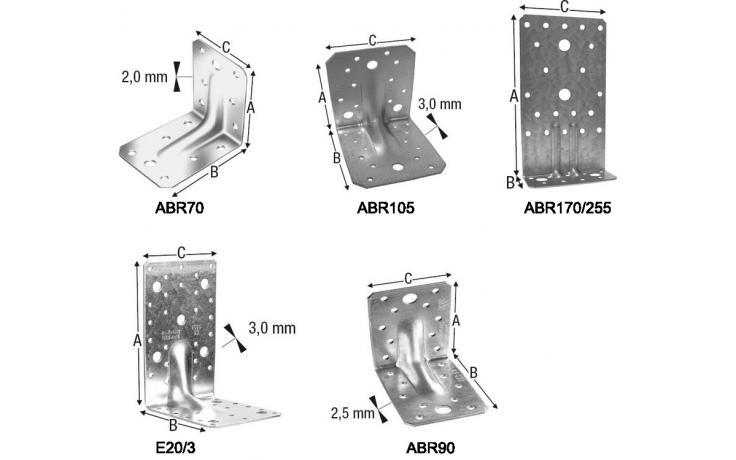 Sarokösszekötő elemek ABR E20 E