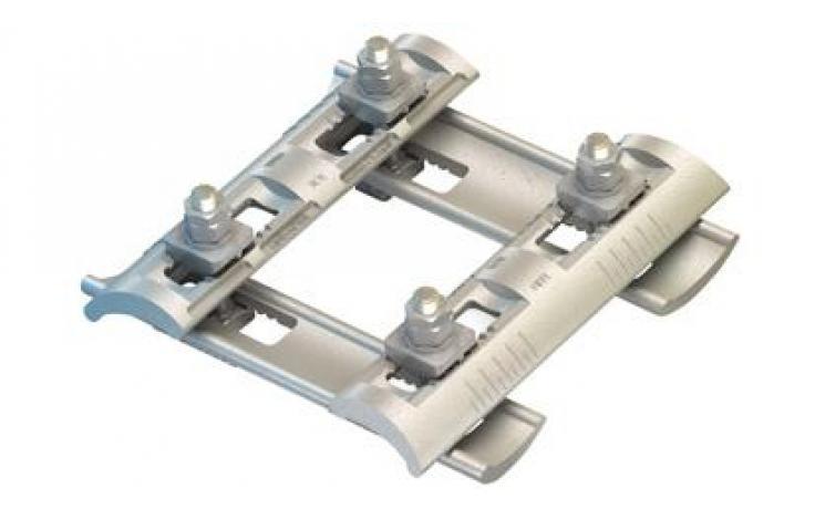 Flush Clamp • FC típus • süllyesztékben kovácsolt acél • horganyzott