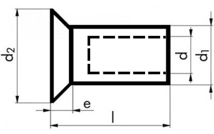 Blindnietmuttern Senkkopf Aluminium M 4 x 11,5 mm