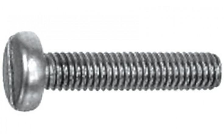 Gewindeschrauben mit Linsenkopf und Schlitz M5 x 16 DIN 85 Stahl rostfrei A4