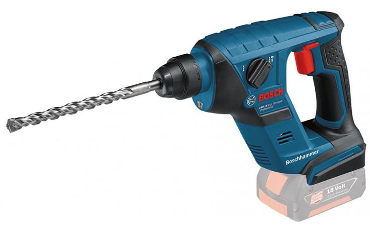 Bosch Akku-Bohrhammer GBH 18 V-LI Compact, Solo Version, L-BOXX