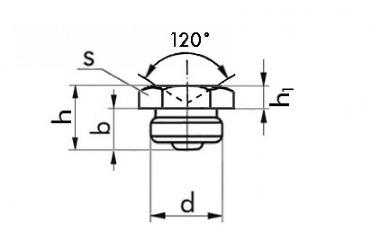 Trichterkopf-Schmiernippel, SP 2, Gewinde: M8 x 1