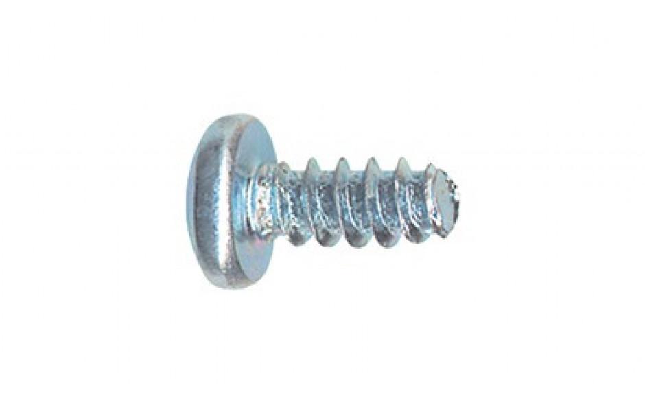 Linsen-Blechschraube DIN 7981F - Stahl - verzinkt blau - 3,9 X 9,5 - PH