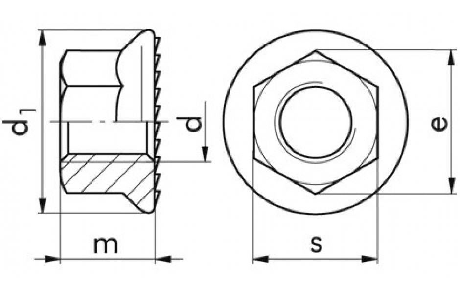 6923 Sperrzahnmutter 10 FLZNNC-720H M 12X1,25