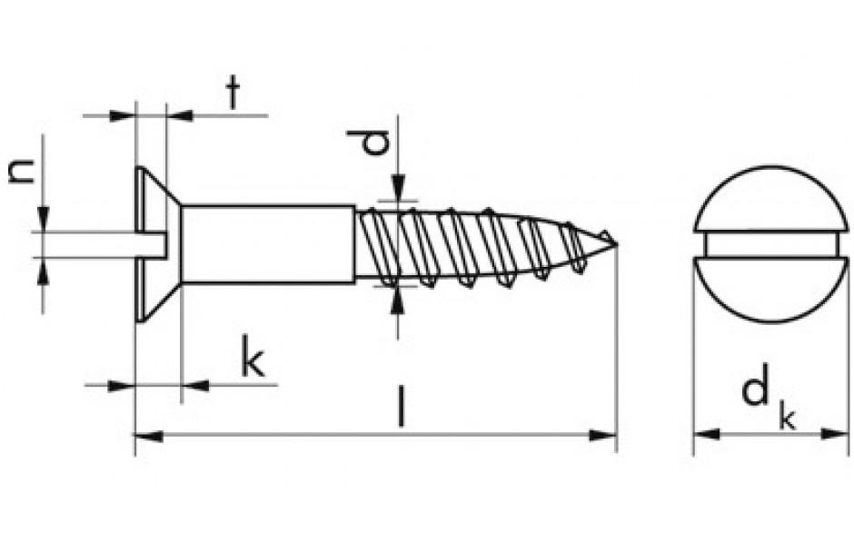 Senkkopf-Holzschrauben 8 x 70 DIN 97 Edelstahl A4