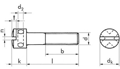 Kreuzlochschrauben 6 x 16 DIN 404 FKL 5.8 verzinkt