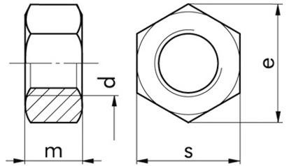 Sechskantmuttern M12 x 1,5 ISO 8673 FKL 8 Stahl gelb verzinkt