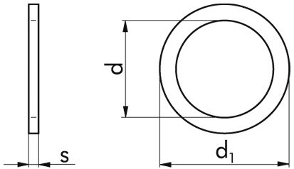 Stützscheibe DIN 988 - Federstahl - blank - 45 X 56 X 3
